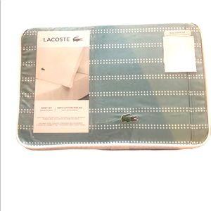 Lacoste Dot Stripes King Sheet Set 100% Cotton